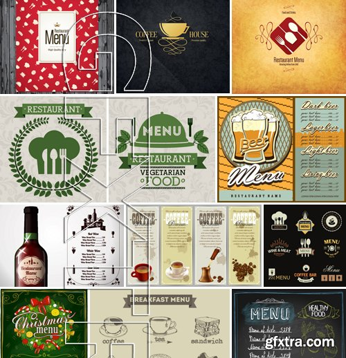 Stock Vectors - Menu Mix 11, 25xEPS