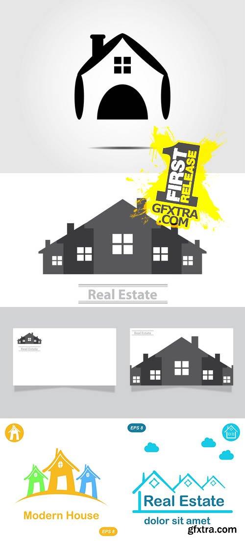 Real Estate Vector Logo Design Template