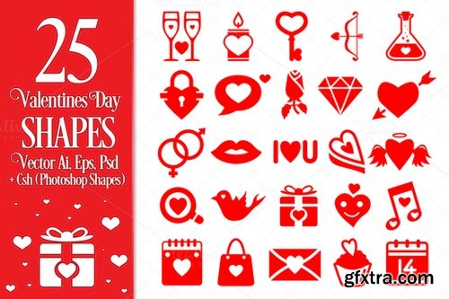 Valentines Day Vector Shapes - CM 155419