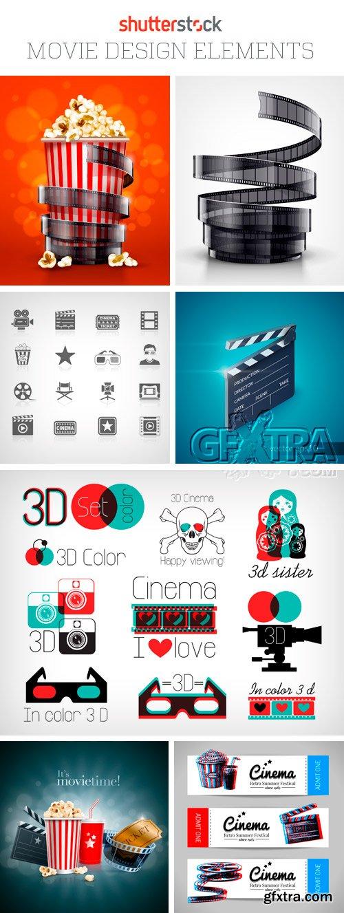 Amazing SS - Movie Design Elements, 25xEPS