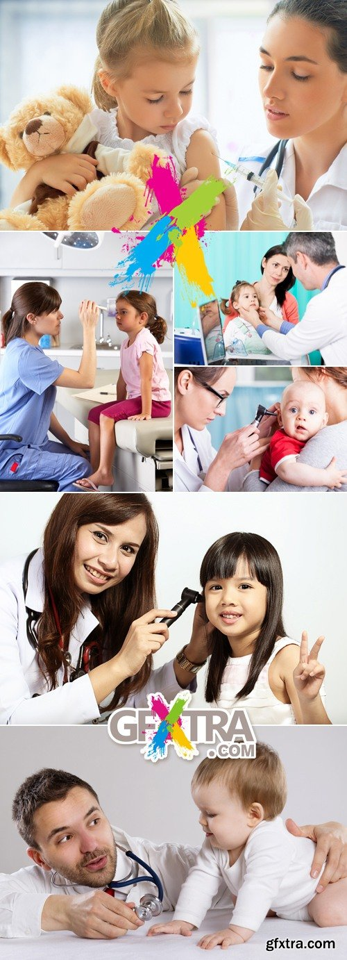 Stock Photo - Doctor Examing Child