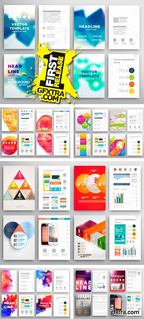 Amazing SS - Brochure Design Templates 2, 25xEPS