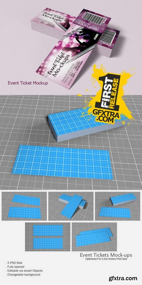 Event Tickets Mock-Up - CM 159564
