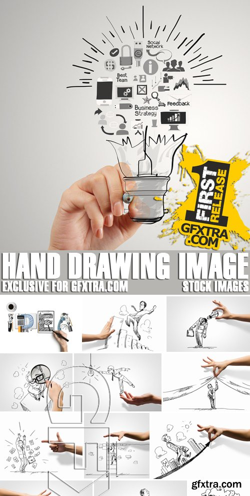 Stock Photos - Hand drawing image, 25xJPG