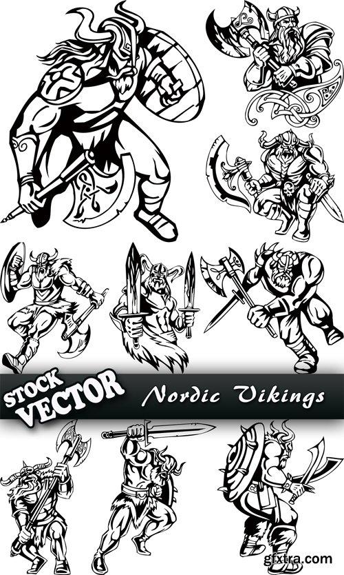 Stock Vector - Nordic Vikings, 33EPS