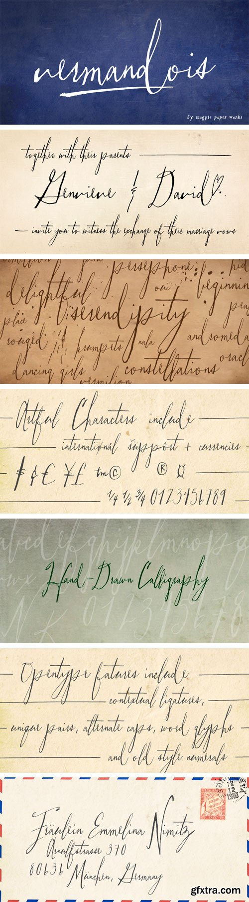 Vermandois Font Family - 2 Fonts $80