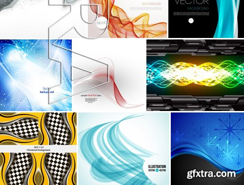 Stock Vectors - Abstract Background 6, 25xEPS