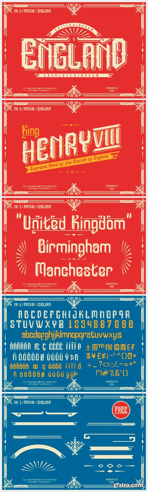 England + Poster vector