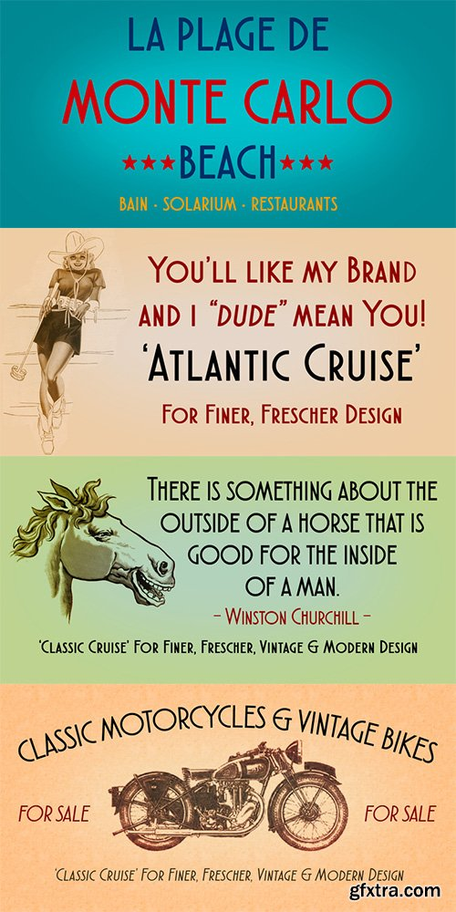 Atlantic Cruise Font Family - 2 Font $50
