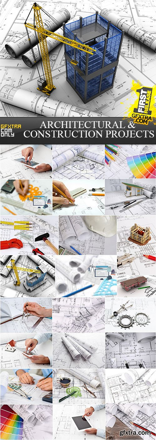 Architectural and Construction Projects, 25xUHQ JPEG