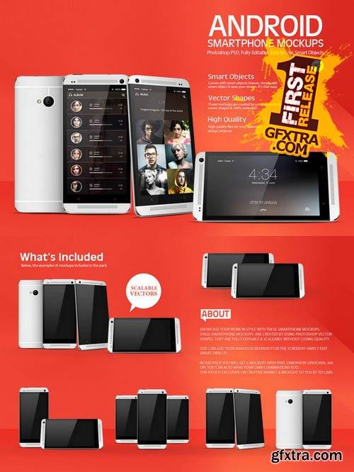 Android Smartphone Mockups V2 - CM 15162