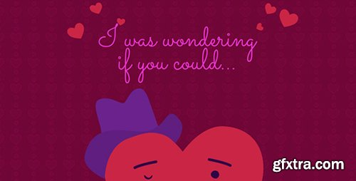 Videohive Be My Valentine Cartoon Greeting 10158349