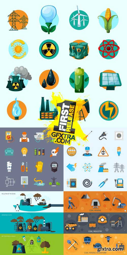 Vector - Electricity & Energy Icons