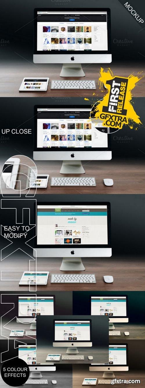 iMac and iPad Mockup - CM 163394