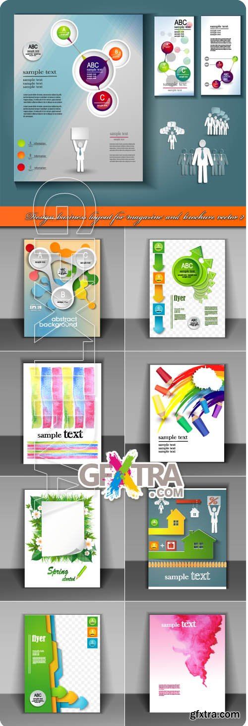 Design business layout for magazine and brochure vector 2