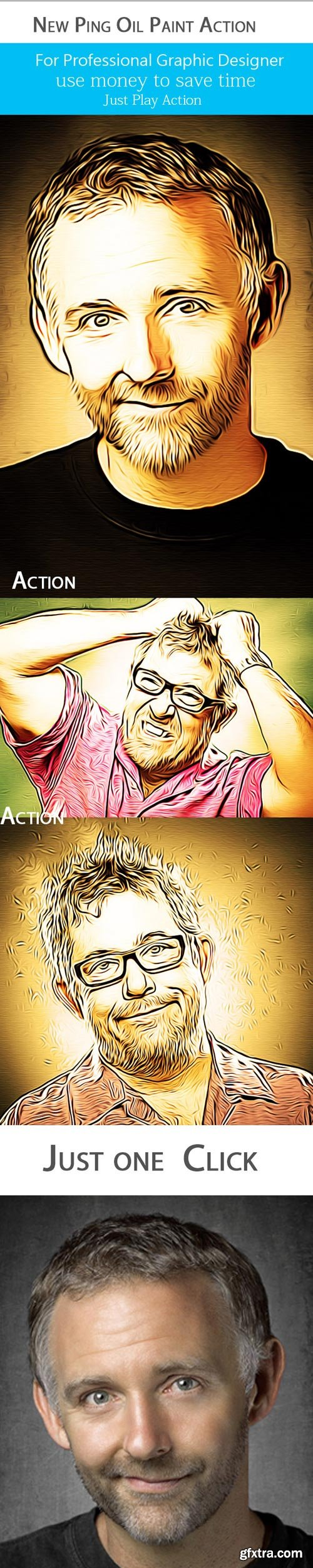 GraphicRiver - New Ping Oil Paint Action 9840172