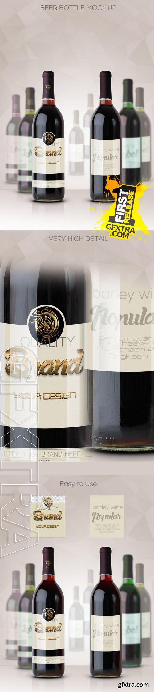 Bottle Wine Mockup - CM 168819