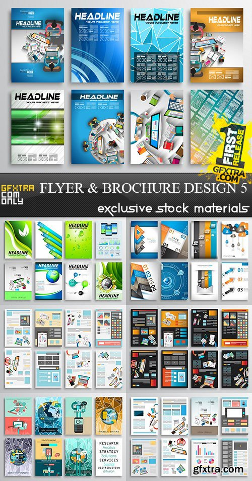Flyer and Brochure Design 5, 25xEPS