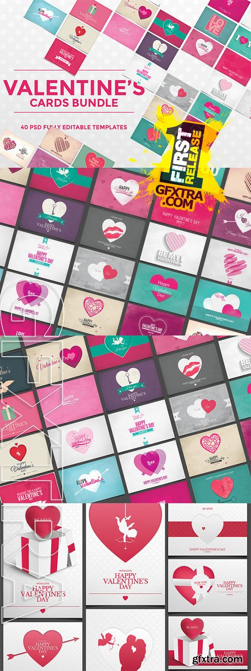 40 Valentine's Day Cards - CM 159631