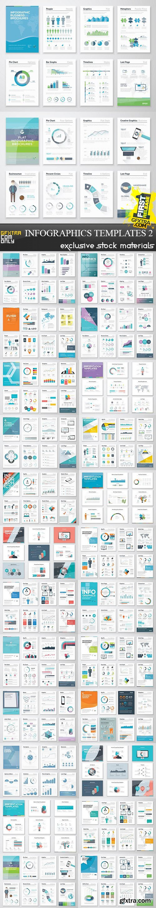Infographics Templates 2, 25xEPS