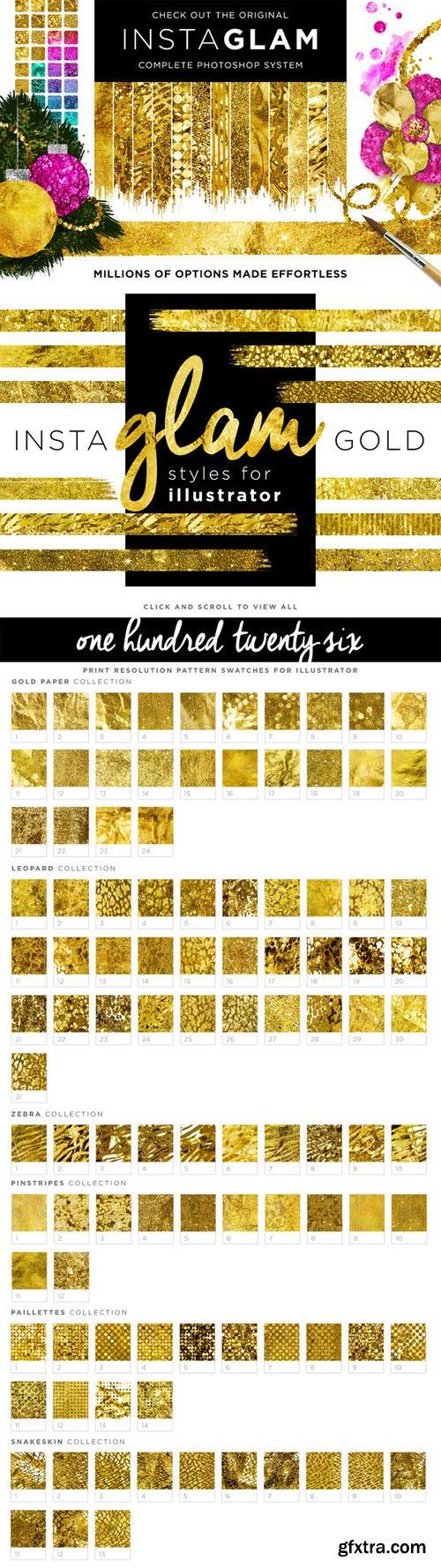 CreativeMarket - Gold Style Illustrator + InstaGlam 106447