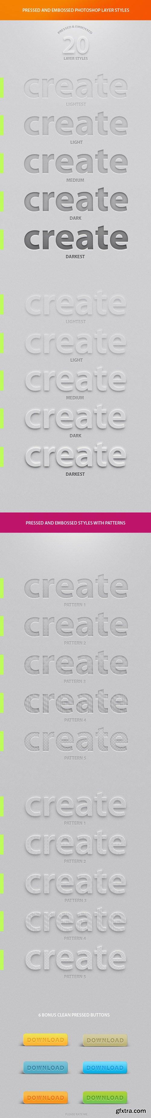 CreativeMarket - 20 Best Pressed & Embossed Styles 11896