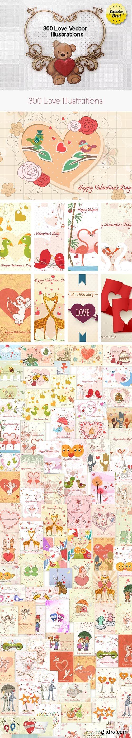 300 Love Vector Illustrations