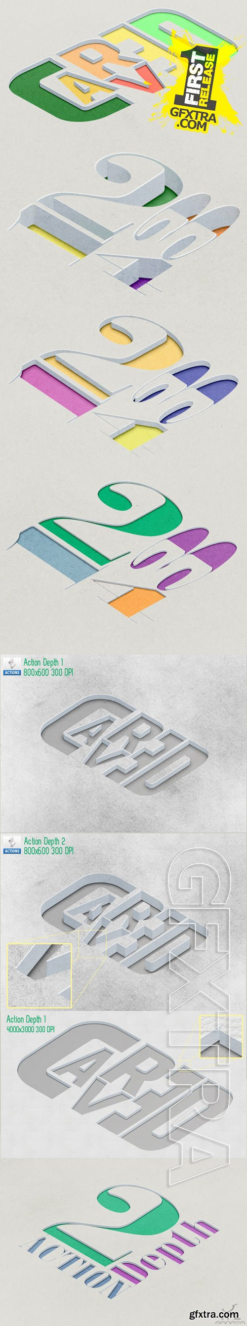 GraphicRiver - Carved in - Text - Shape - Vector Image 9519251
