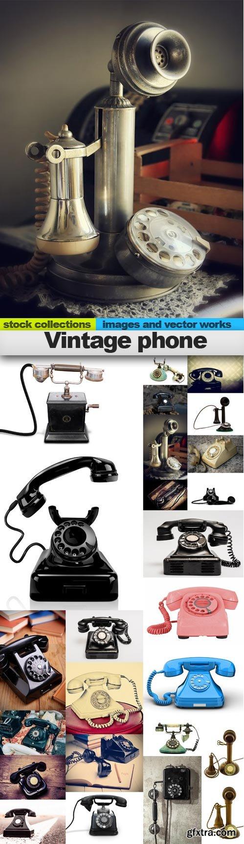 Vintage phone, 25 x UHQ JPEG