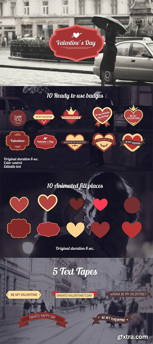 Videohive Valentines Day Badges Package 10108521