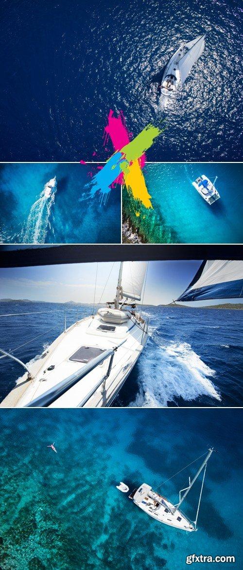 Stock Photo - Yacht at the Sea