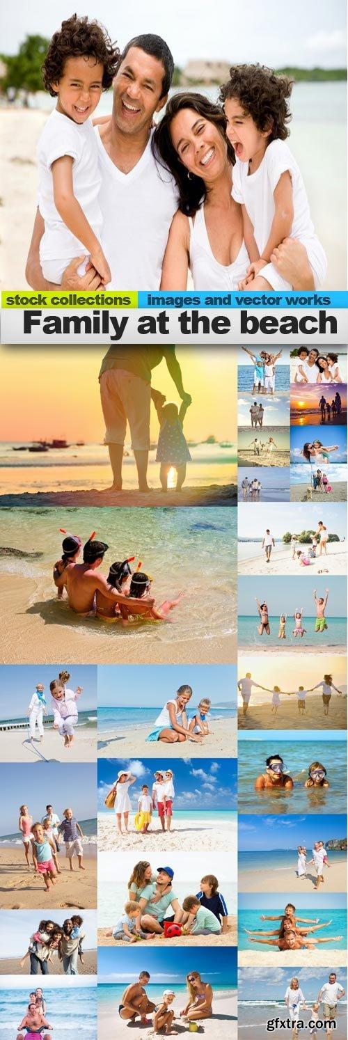 Family at the beach, 25 x UHQ JPEG