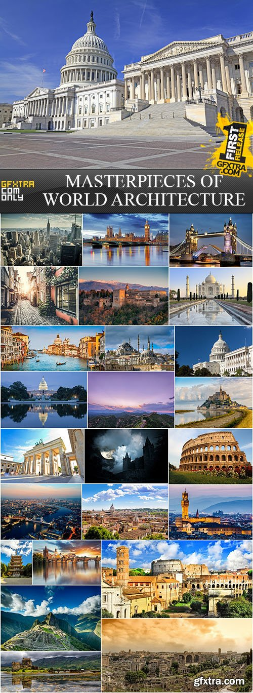 Masterpieces of World Architecture, 25xUHQ JPEG