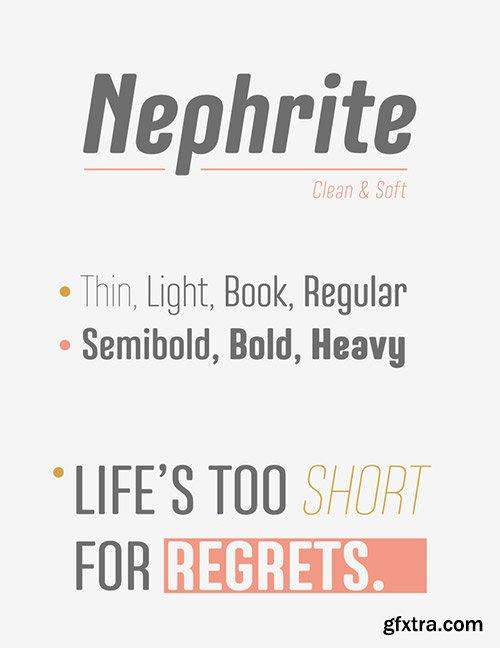 Nephrite - Newest Font Colleciton 14xOTF $160
