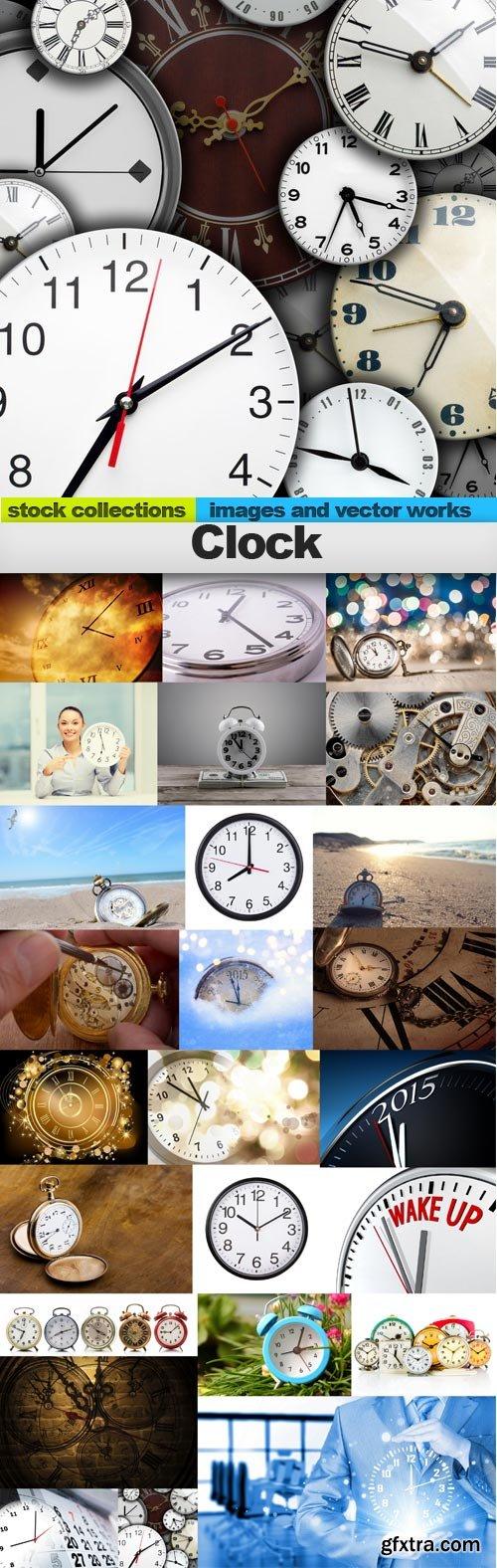 Clock 2, 25 x UHQ JPEG