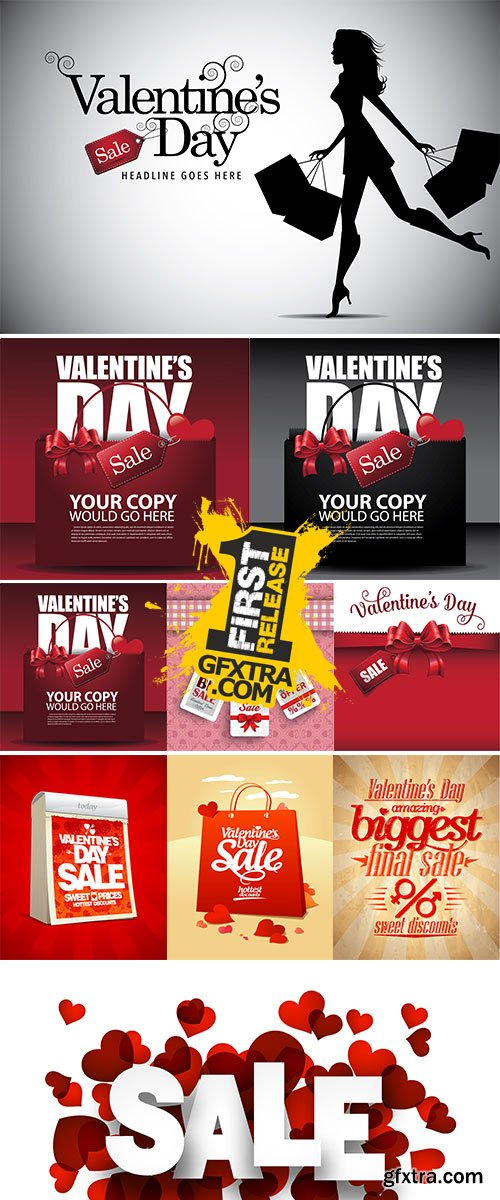 Stock Valentines Day Sale, vector