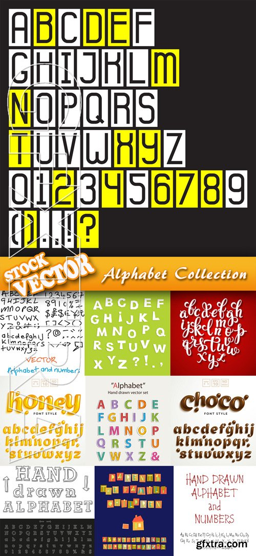 Stock Vector - Alphabet Collection