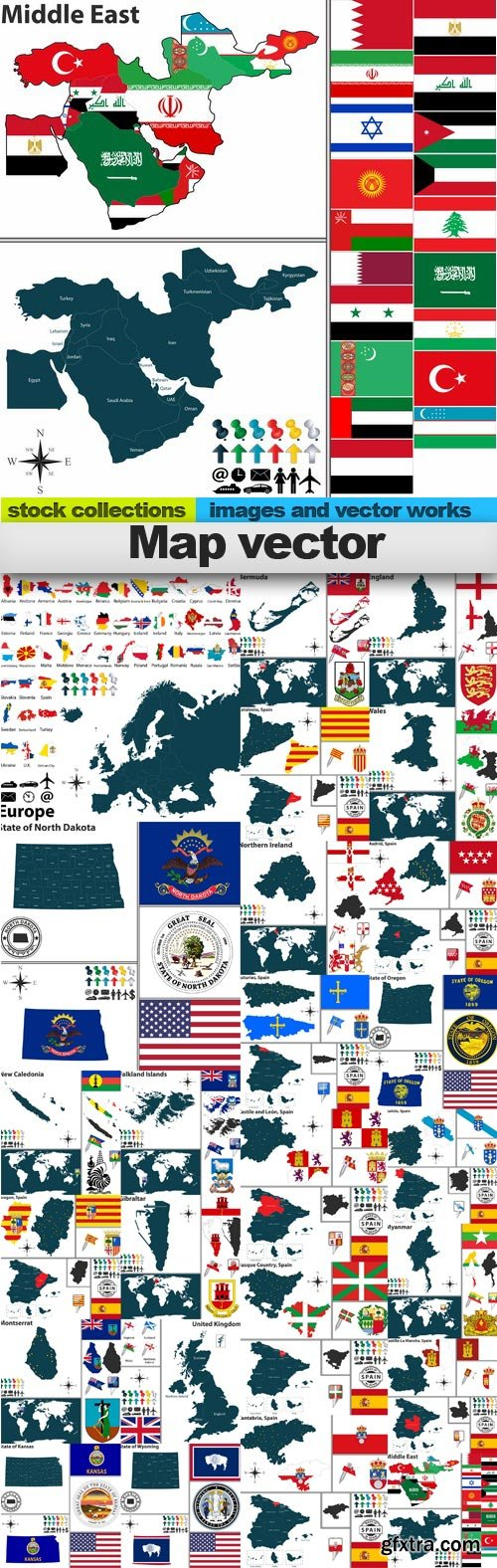 Map vector, 25 x EPS
