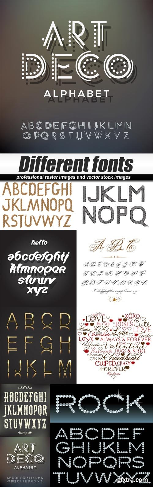 Different fonts