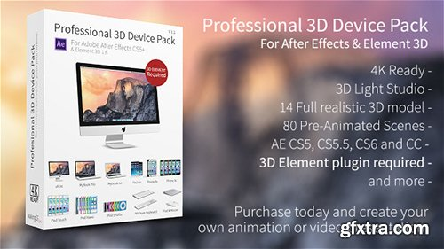Videohive Professional 3D Device Pack for Element 3D 7139714