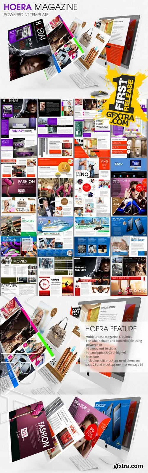 HOERA Magazine - Powerpoint Template - CM 174276