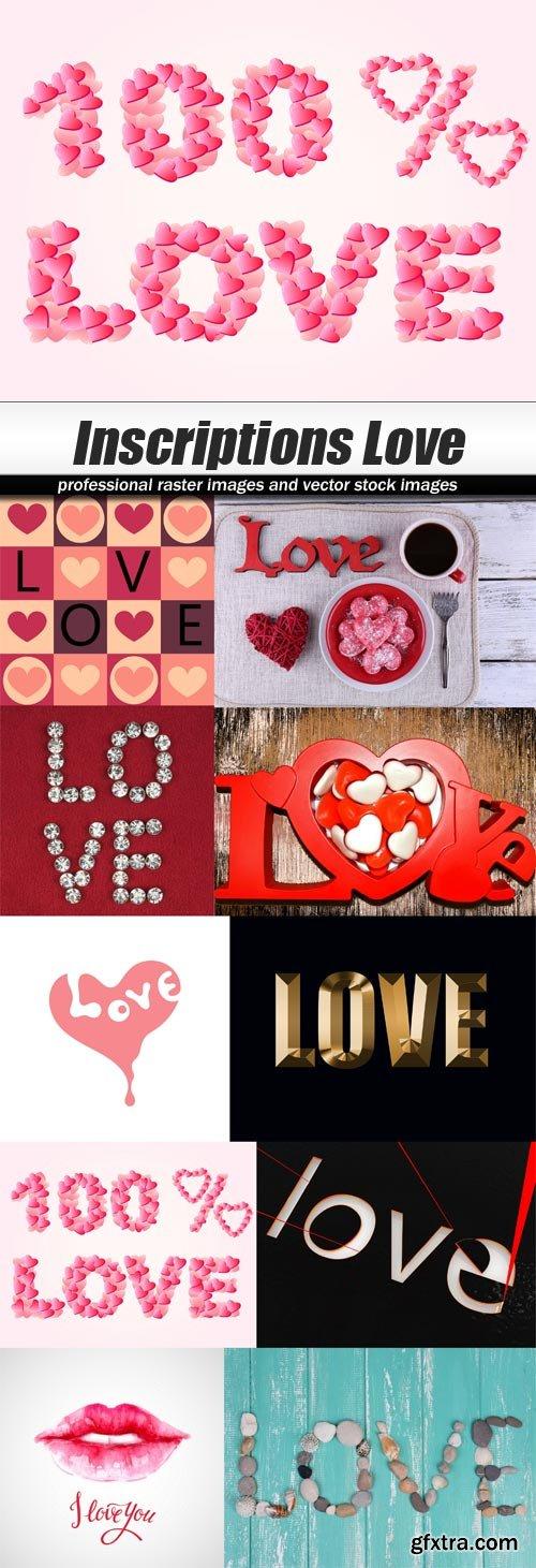 Inscriptions Love