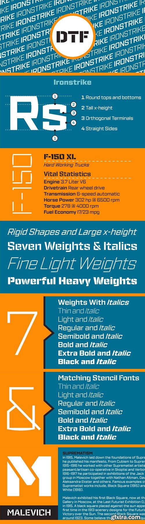 IronStrike - Industrial & Constructivist Type 28xOTF $650