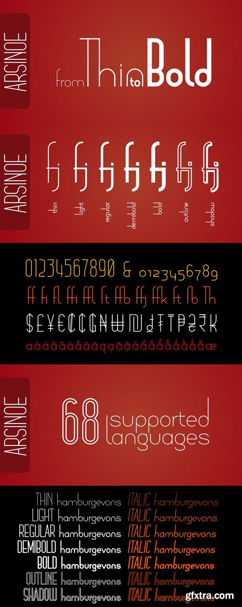 Arsinoe Font Family $224