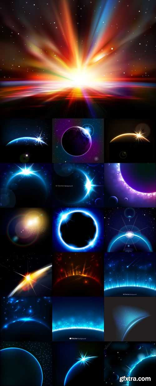 Magic universe space vector backgrounds