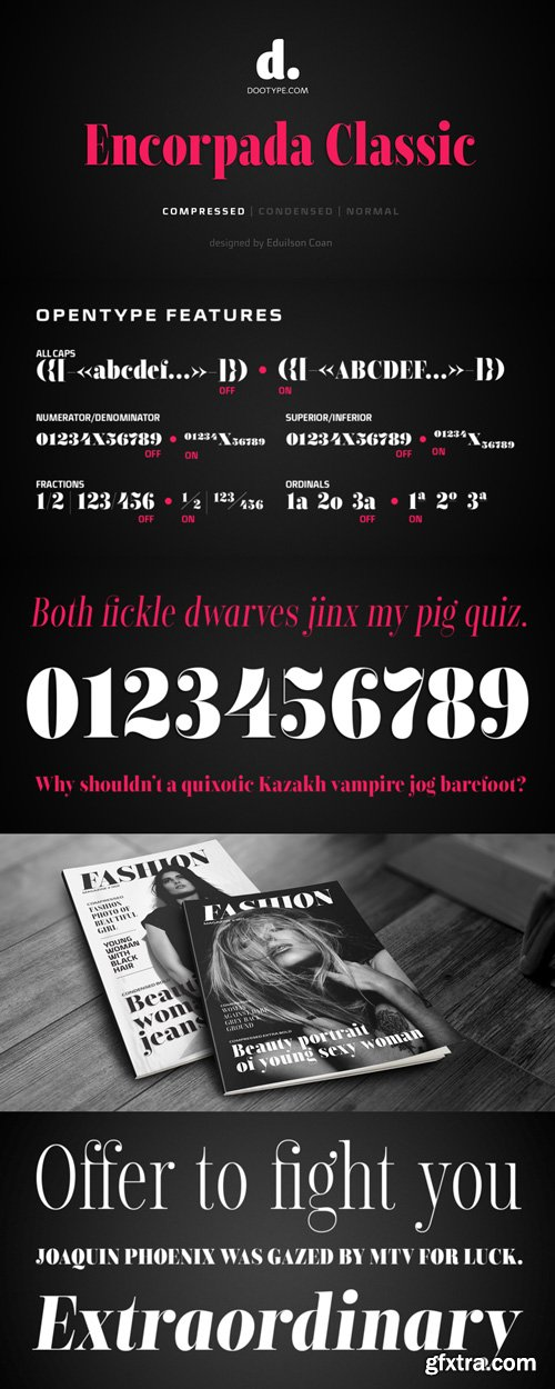 Encorpada Classic Compressed Font Family $99