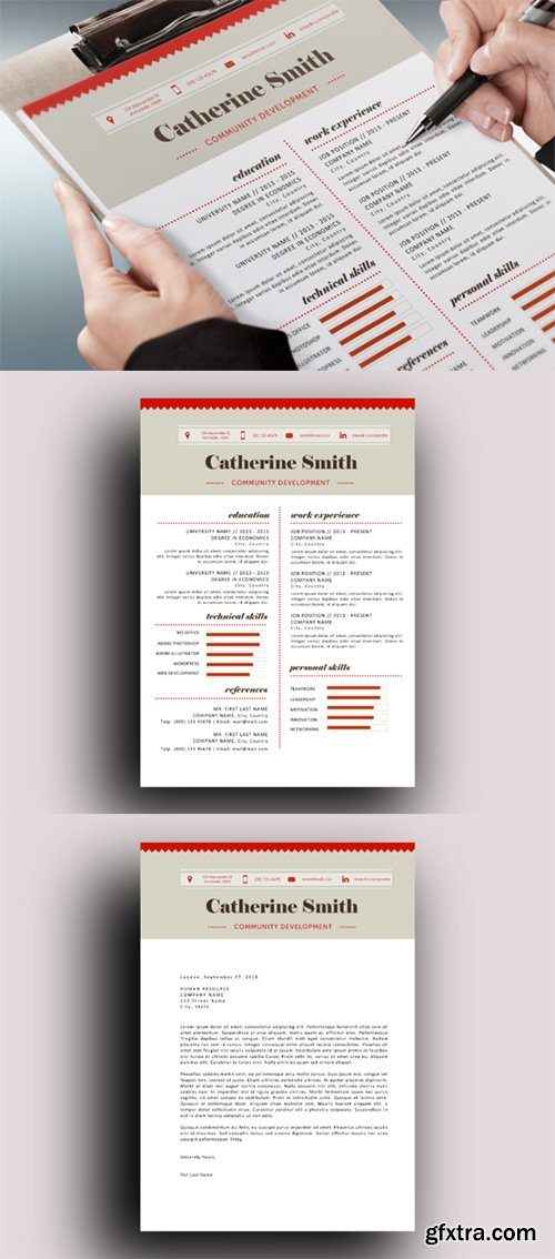 CM - Charted modern resume template 184699