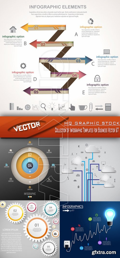 Stock Vector - Collection of Infographic Templates for Business Vector 67
