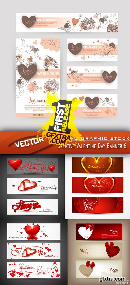 Stock Vector - Creative Valentine Day Banner 6