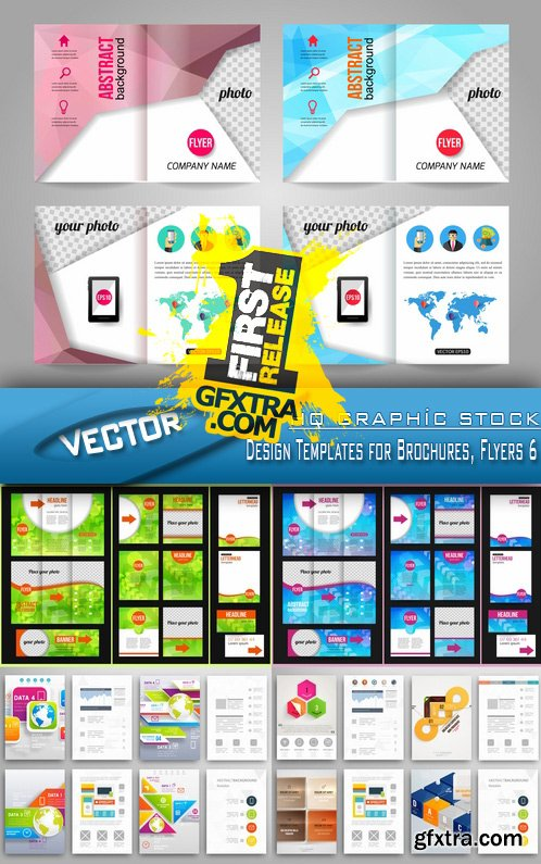 Stock Vector - Design Templates for Brochures, Flyers 6